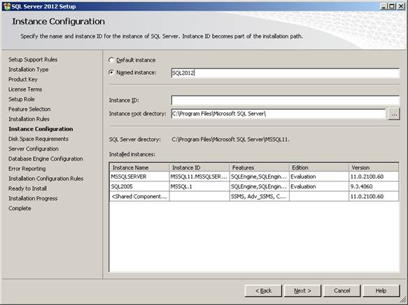 Provide installation configuration