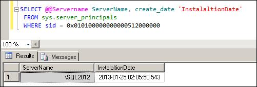 SQL Server Installed