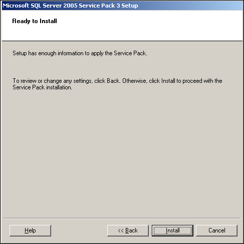 how to check sql express service pack version